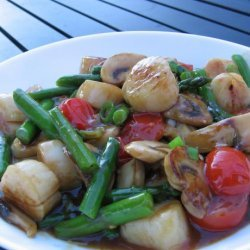 Scallop & Asparagus Stir Fry recipe
