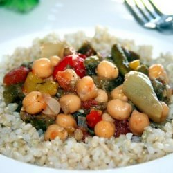 Roasted Vegetables With Chickpeas recipe