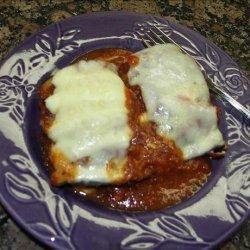 Lightened up  Eggplant ( Aubergine) Rollatini recipe