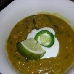 Curried Red Lentil and Swiss Chard Soup recipe