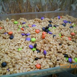 Peanut Butter Rice Krispies Bars (No-Bake) recipe
