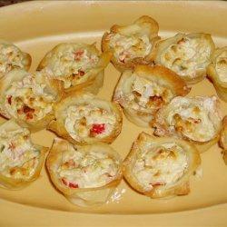 Cheesy Crab Tarts recipe