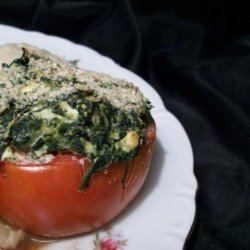 Tomatoes Stuffed With Spinach and Cheeses recipe