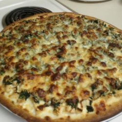 Chicken & Spinach Alfredo Pizza recipe