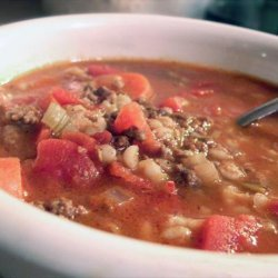 Beef and Barley Vegetable Soup recipe