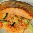 Salmon With Couscous Vegetable Salad recipe