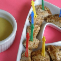 Cajun Chicken Cubes With Honey Mustard Dipping Sauce recipe