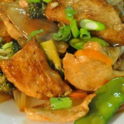 Ginger Plum Chicken Stir Fry recipe