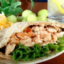 Grilled Buffalo Chicken Salad Sandwiches or Pitas recipe