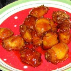 Bacon Water Chestnut Appetizers recipe
