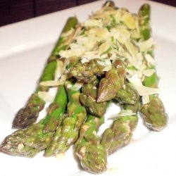 Asparagus With Garlic Butter and Parmesan Cheese recipe