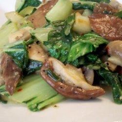 Sauteed Bok Choy With Mushrooms recipe
