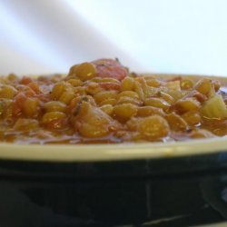 Potage Aux Lentilles Et Aux Lard - Lentil, Bacon and Tomato Soup recipe