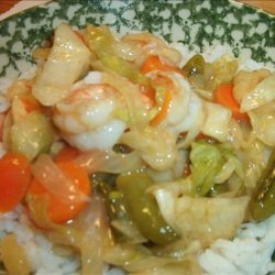 Honey Lime Cajun Shrimp Stir Fry recipe
