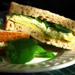 Egg Salad Sandwich With Avocado and Watercress recipe