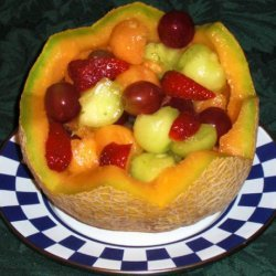 Fruit  Salad in a Cantaloupe Basket recipe
