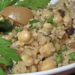 Bulgur and Chickpeas With Preserved Lemon Vinaigrette recipe