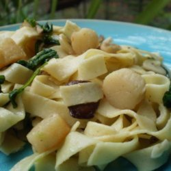 Pappardelle With Scallops -  Guy Fieri recipe