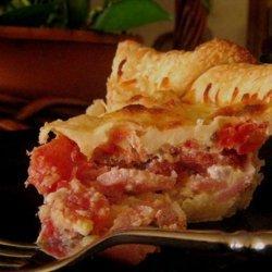 Ham and Tomato Pie recipe