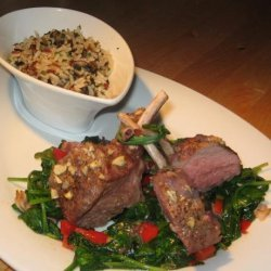 Lamb Chops With Red Wine and Rosemary Sauce recipe