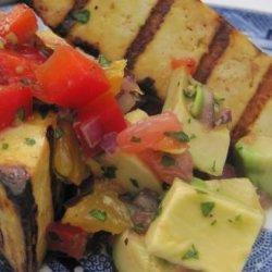 Grilled Tofu with Grapefruit and Avocado Salsa recipe