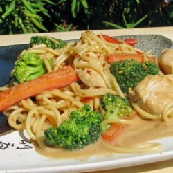Chicken & Pasta in Peanut Sauce recipe