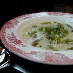 New England Soup Factory's Asparagus, Lemon, and Orzo Soup recipe