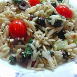 Wild Oats Greek Orzo and Spinach Salad recipe