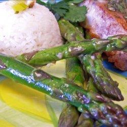Asparagus With Lemon Curd recipe