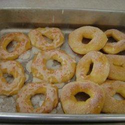 Baked Sugar Doughnuts (Bread Machine) recipe