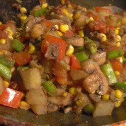 Pan Roasted Fresh Vegetable Medley recipe