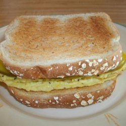 Mothers Scrambled Egg and Dill Pickle Sandwich recipe