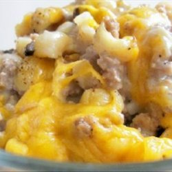 Macaroni and Cheddar Cheese Beef Bake recipe