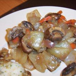 My Best Steak Side Dish With Vidalias, Shallots, Portabellas recipe