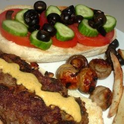 Lamb Burger Middle Eastern Style recipe