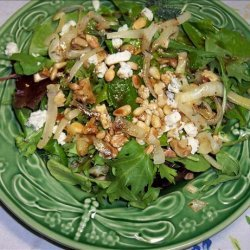 Blue Cheese With Arugula, Caramelized Onions and Nuts recipe