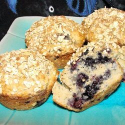 Lemon Blueberry Oatmeal Muffins recipe