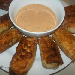 Reuben Egg Roll Wraps With Dipping Sauce recipe
