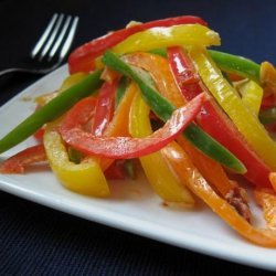 Three Bell Pepper Slaw With Chipotle Dressing recipe