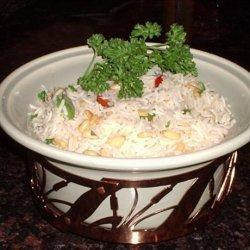 Garlic Rice with Pine Nuts recipe