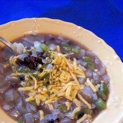 Black Bean Onion Soup recipe