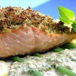 Baked Salmon With Lemon-Oregano Crumb Topping recipe
