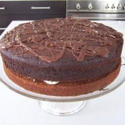 Banana Chocolate Fudge Layer Cake (Light) recipe