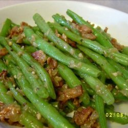 Bacon Smothered Green Beans recipe