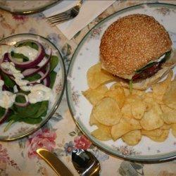 Danish Burgers W/  Herb Caper Sauce and a Mod Salad recipe