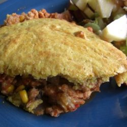 Mexican Shepherd's Pie With Cornmeal Buttermilk Topping recipe