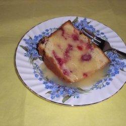 Cranberry Orange Pound Cake With Butter Rum Sauce recipe