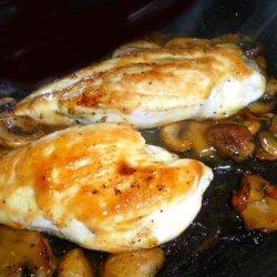 Mushroom Chicken With Honey Mustard recipe