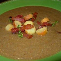 Chestnut Soup With Bacon - Velouté De Chataignes Et Bacon recipe