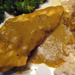 Chicken With Banana Curry Sauce - Caribbean recipe